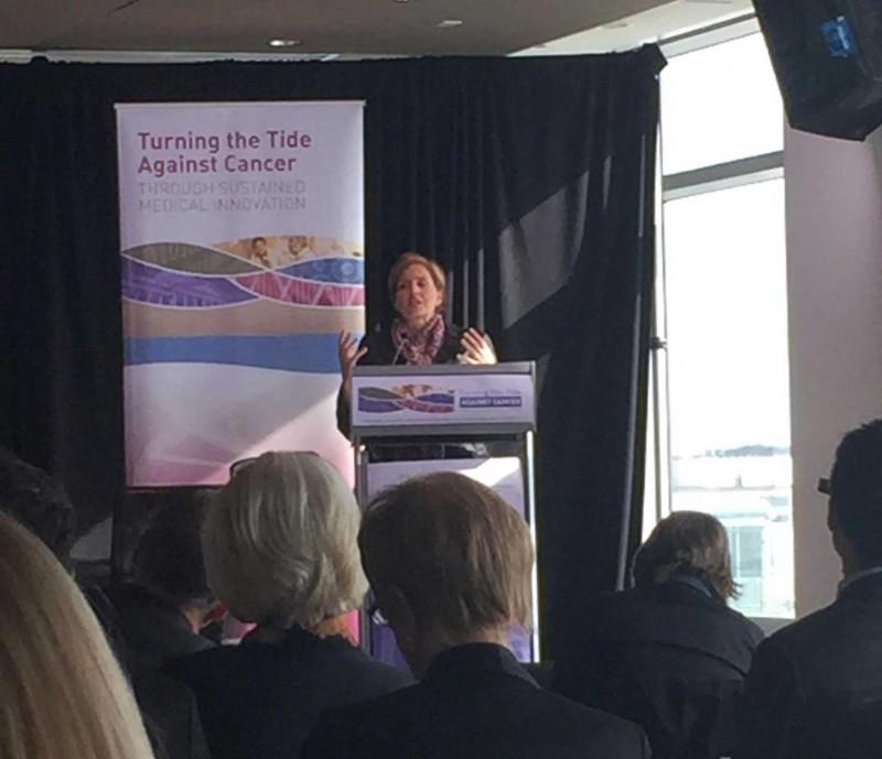 Shelley Fuld Nasso speaks at T3 Event