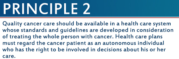 20 Years Later Blog Series: The Imperatives for Quality Cancer Care Principle 2