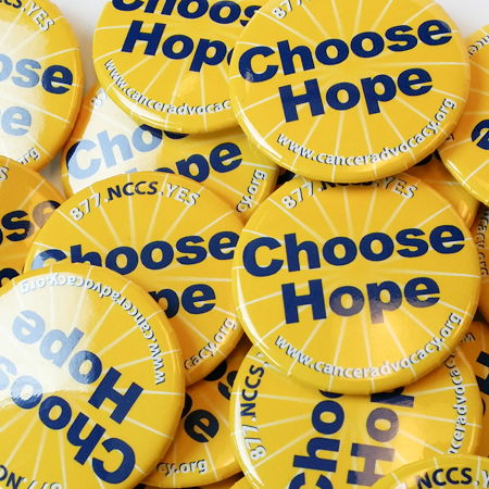 Cancer Button-Choose Hope