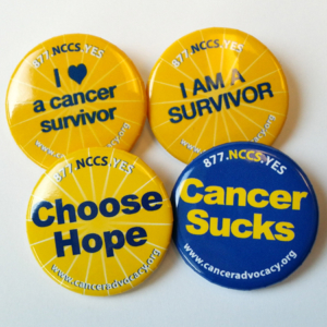 Cancer Buttons 4-Pack