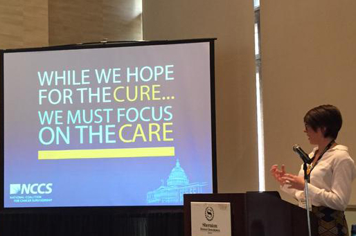 "Post by Kelsey Nepote, MSW. Kelsey presented the session ""The Patient Advocate: Changing Cancer Care in the US."""
