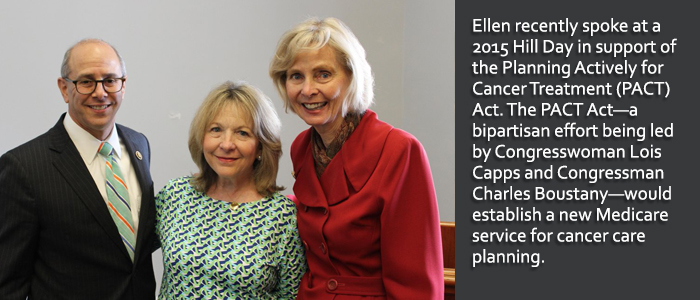 Ellen at hill day with Rep. Lois Capps and Rep. Charles Boustany