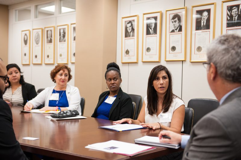 NCCS CPAT Member talks to a congressional staffer about the PACT Act
