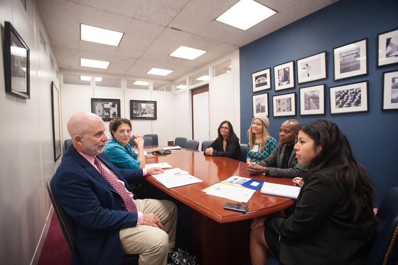 CPAT members from New York meet with Sen. Schumer's office about the PACT Act. (Photo by Leslie E. Kossoff/LK Photos)
