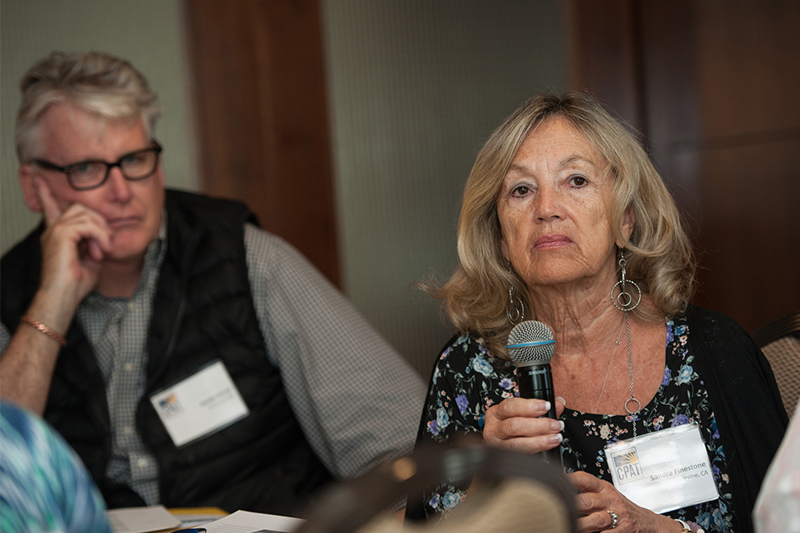 Sandra Finestone asks a question during a CPAT session.