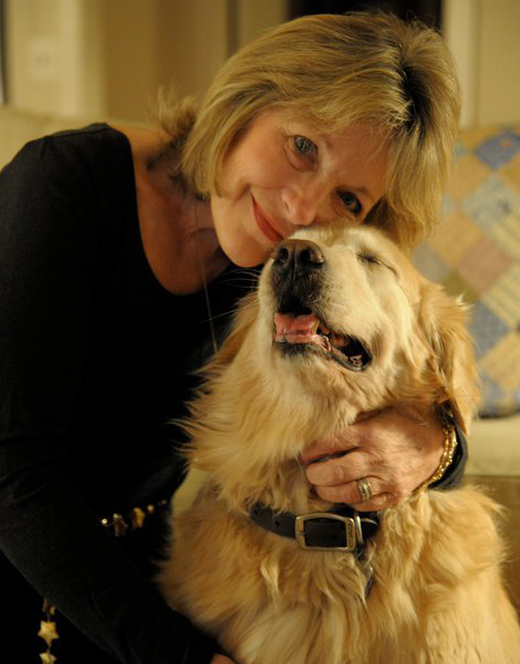 Ellen Stovall and her dog Annie