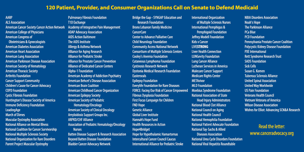 120 Patient, Provider, and Consumer Organizations Call on Senate to Defend Medicaid