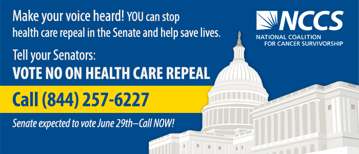 Call 844-257-6227 and tell your Senator to reject the AHCA