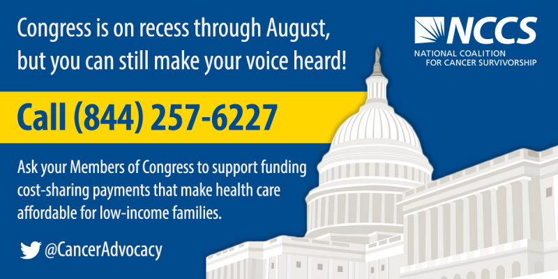 Call Congress--Yes on Cost-Sharing Payments