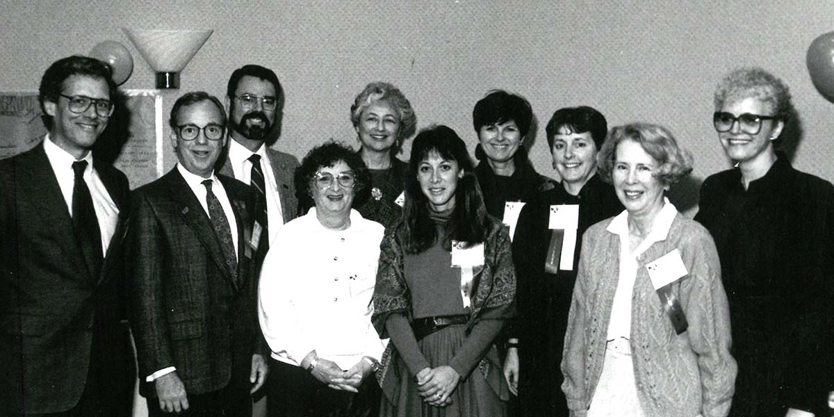 Catherine Logan Carrillo with ten NCCS founders