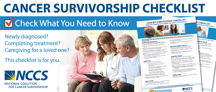 Cancer Survivorship Checklist by NCCS