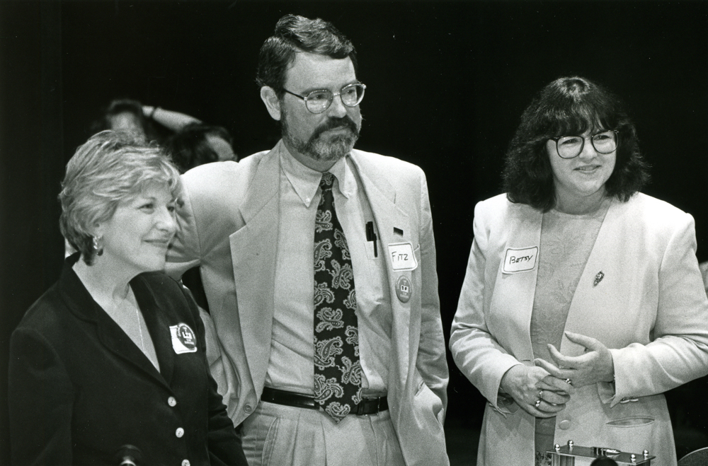 Ellen Stovall, Fitzhugh Mullan, MD, and Betsy Clark