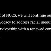 NCCS black lives matter statement