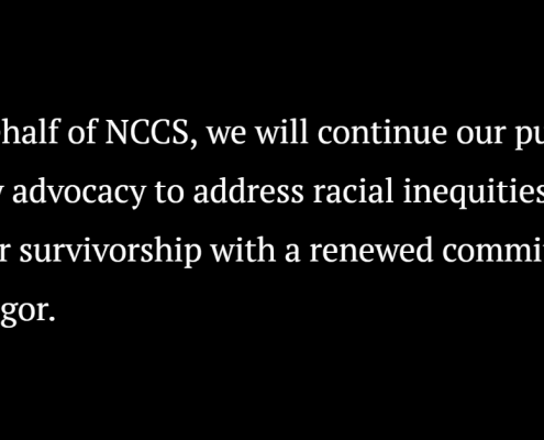 NCCS black lives matter statement