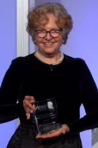 Julia Rowland, PhD receives the 2020 Stovall Award.