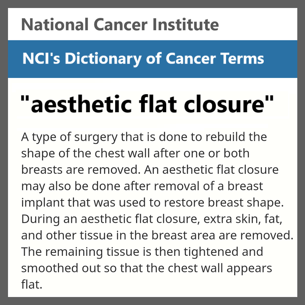NCI aesthetic flat closure definition
