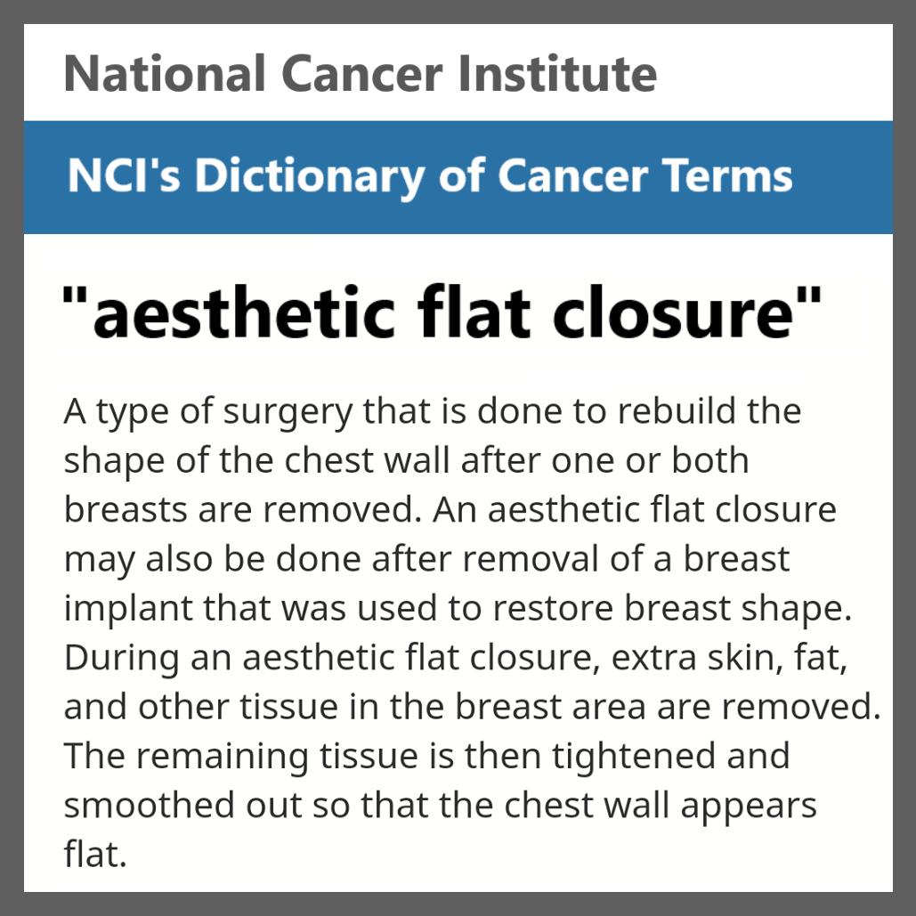 NCI aesthetic flat closure definition